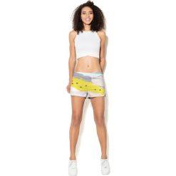 Colour Pleasure Spodnie damskie CP-020 26 biało-żółte r. 3XL/4XL. Spodnie dresowe damskie Colour pleasure, xl. Za 72,34 zł.