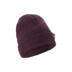 Czapka narciarska FISHERMAN. Fioletowe czapki damskie WED'ZE, z materiału, eleganckie. W wyprzedaży za 14,99 zł.