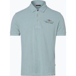 Napapijri - Męska koszulka polo – Elbas 1, zielony. Szare koszulki polo marki Napapijri, l, z materiału, z kapturem. Za 179,95 zł.