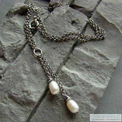 Perłowe oliwki - naszyjnik. Białe naszyjniki damskie marki Pakamera, na co dzień. Za 132,00 zł.