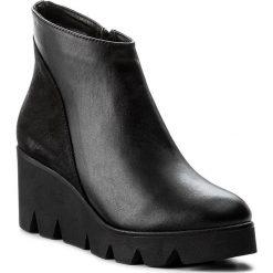 Botki SERGIO BARDI - Baucina FW127282117SW 101. Czarne buty zimowe damskie Sergio Bardi, z nubiku, na obcasie. W wyprzedaży za 229,00 zł.