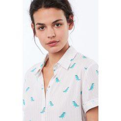 Etam - Top piżamowy Douce. Niebieskie piżamy damskie marki Etam, l, z bawełny. Za 119,90 zł.