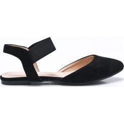 Answear - Baleriny Chc-Shoes. Czarne baleriny damskie marki ANSWEAR, z gumy. W wyprzedaży za 54,90 zł.