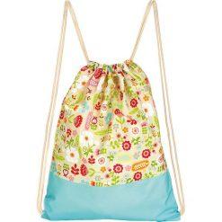 """Plecaki damskie: Plecak """"Summer Garden"""" w kolorze turkusowym ze wzorem – 33 x 42,5 cm"""