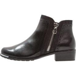 Caprice Ankle boot black. Czarne botki damskie skórzane Caprice. Za 369,00 zł.