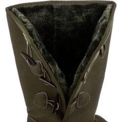 Buty zimowe damskie: Wysokie śniegowce z futerkiem OLIVIA