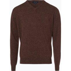 Swetry klasyczne męskie: Andrew James – Sweter męski z dodatkiem jedwabiu, beżowy