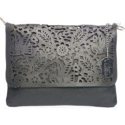 Torebki klasyczne damskie: Skórzana torebka w kolorze czarnym – 27 x 22 x 1 cm