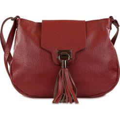 """Torebki klasyczne damskie: Skórzana torebka """"Oriane"""" w kolorze czerwonym – 32 x 24 x 4 cm"""