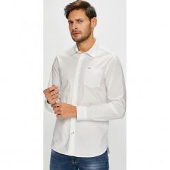 Pepe Jeans - Koszula. Szare koszule męskie jeansowe marki Pepe Jeans, l, z klasycznym kołnierzykiem, z długim rękawem. Za 279,90 zł.