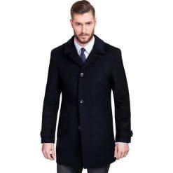 Płaszcz FERDINANDO PSGS000014. Czarne płaszcze na zamek męskie Giacomo Conti, na jesień, m, z wełny, klasyczne. Za 799,00 zł.
