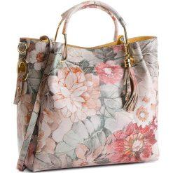 Torebka CREOLE - K10515  Kwiaty Czarny. Czarne torebki klasyczne damskie Creole, w kwiaty, ze skóry. W wyprzedaży za 229,00 zł.