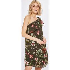 Only - Sukienka. Szare sukienki mini marki ONLY, s, z bawełny, casualowe, z okrągłym kołnierzem. W wyprzedaży za 89,90 zł.