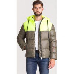 Żółte kurtki męskie pikowane Zniżki do 50%! Kolekcja