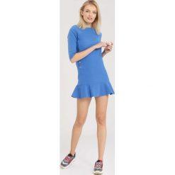 Niebieska Sukienka Effulgent. Zielone sukienki mini marki other, l, prążkowane. Za 64,99 zł.