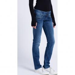 Pepe Jeans - Jeansy Venus. Niebieskie boyfriendy damskie Pepe Jeans, z obniżonym stanem. W wyprzedaży za 279,90 zł.