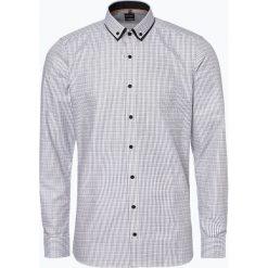 Olymp Level Five - Koszula męska łatwa w prasowaniu, czarny. Czarne koszule męskie non-iron marki OLYMP Level Five, m, z kontrastowym kołnierzykiem. Za 199,95 zł.