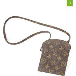 """Portfele damskie: Portfel """"Zip Pouch with Strap"""" w kolorze brązowym – 10,5 x 13,5 x 1 cm"""