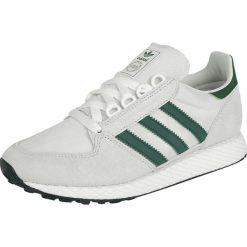 Adidas Forest Grove Buty sportowe biały/zielony. Białe buty skate męskie Adidas, w paski. Za 244,90 zł.