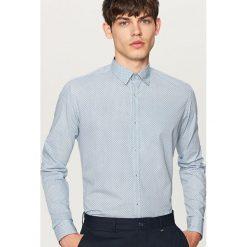 Koszula z podwijanymi rękawami slim fit - Turkusowy. Niebieskie koszule męskie slim marki QUECHUA, m, z elastanu. W wyprzedaży za 59,99 zł.