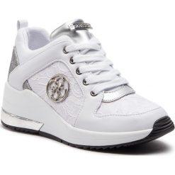 Sneakersy GUESS - FL5JAR LAC12 WHITE. Niebieskie sneakersy damskie marki Guess, z materiału. Za 629,00 zł.