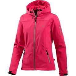 Kurtka softshellowa w kolorze różowym. Czerwone bomberki damskie OCK, z materiału. W wyprzedaży za 129,95 zł.