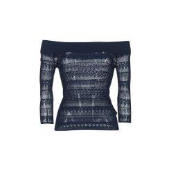 Swetry Guess  ZIFUZI. Niebieskie swetry klasyczne damskie Guess, l. Za 231,20 zł.