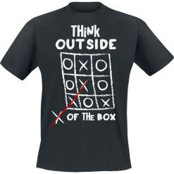 Think Outside Of The Box T-Shirt czarny. Czarne t-shirty męskie z nadrukiem Think Outside Of The Box, s, z okrągłym kołnierzem. Za 62,90 zł.