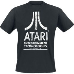 Atari Entertainment Technologies - Logo T-Shirt czarny. Czarne t-shirty męskie z nadrukiem marki ATARI, l, z okrągłym kołnierzem. Za 74,90 zł.