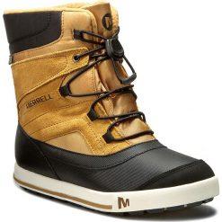 Śniegowce MERRELL - Snow Bank 2Wtrpf MY56187 Wheat. Brązowe buty zimowe damskie Merrell, z materiału, na wysokim obcasie. W wyprzedaży za 199,00 zł.