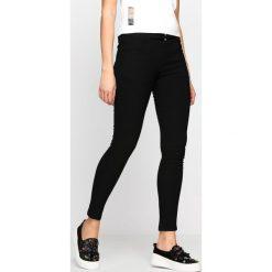 Spodnie damskie: Czarne Spodnie Decorative