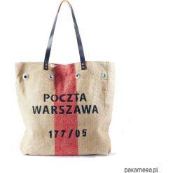 Torba z worka pocztowego. Szare torebki klasyczne damskie Pakamera. Za 189,00 zł.