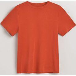 T-shirt z bawełny organicznej - Pomarańczo. Białe t-shirty damskie marki Reserved, l, z dzianiny. Za 59,99 zł.