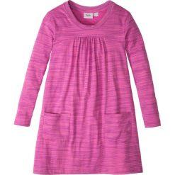 Sukienki dziewczęce: Sukienka shirtowa melanżowa bonprix jeżynowy melanż