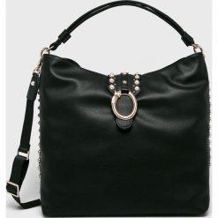 Liu Jo - Torebka. Czarne torebki klasyczne damskie Liu Jo, w paski, z materiału, duże. Za 739,90 zł.