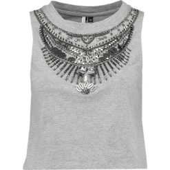 Topy damskie: Topshop EMBELLISHED Top grey