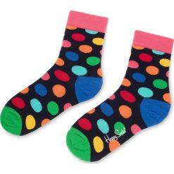 Skarpety Wysokie Unisex HAPPY SOCKS - BDO01-6001 Czarny Kolorowy. Czarne skarpetki męskie Happy Socks, w kolorowe wzory, z bawełny. Za 34,90 zł.