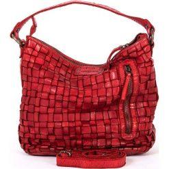 Torebki klasyczne damskie: Skórzana torebka w kolorze czerwonym – 26 x 27 x 17 cm