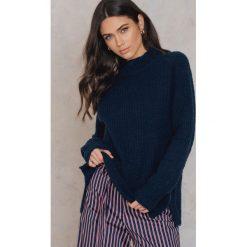 Swetry oversize damskie: Rut&Circle Sweter w prążki Vera – Blue,Navy
