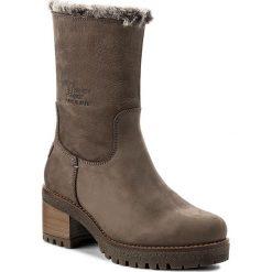 Botki PANAMA JACK - Piola B15 Grey. Szare buty zimowe damskie Panama Jack, z nubiku, na obcasie. W wyprzedaży za 439,00 zł.