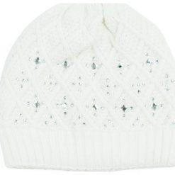 Czapka damska Shiny winter biała. Białe czapki zimowe damskie Art of Polo. Za 69,13 zł.