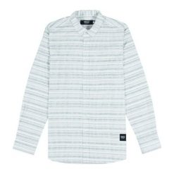 Koszule męskie na spinki: Wemoto Koszula męska Iba Natural biała r. M (323-4)