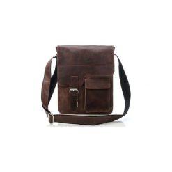 Ciemno brązowa listonoszka torba skórzana na ramię. Brązowe torby na ramię męskie marki Kazar, ze skóry, przez ramię, małe. Za 252,89 zł.