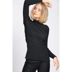 Ciemnoszary Sweter By Birth. Szare swetry klasyczne damskie Born2be, uniwersalny, ze stójką. Za 39,99 zł.