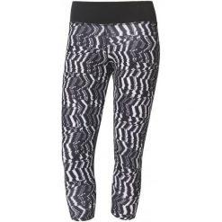 Adidas Legginsy d2m 3/4 Tigh p2 Print/Black S. Czarne legginsy skórzane marki Adidas, m. W wyprzedaży za 129,00 zł.