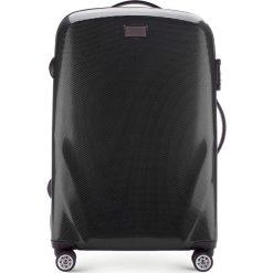Walizka średnia 56-3P-572-10. Czarne walizki marki Wittchen, z gumy, średnie. Za 369,00 zł.