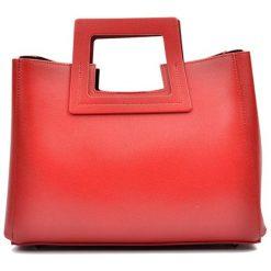 Torebki klasyczne damskie: Skórzana torebka w kolorze czerwonym – (S)36 x (W)27 x (G)12 cm