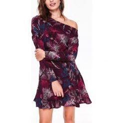Sukienki: ASYMETRYCZNA SUKIENKA Z PRINTEM