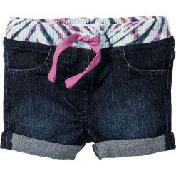 """Krótkie spodenki dżinsowe bonprix niebieski """"stone"""". Czarne spodenki dziewczęce marki bonprix, w paski, z dresówki. Za 32,99 zł."""
