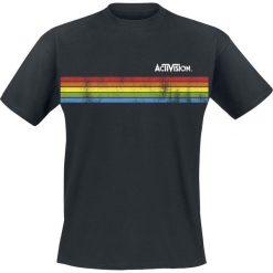 T-shirty męskie: Activision Distressed Stripe T-Shirt czarny